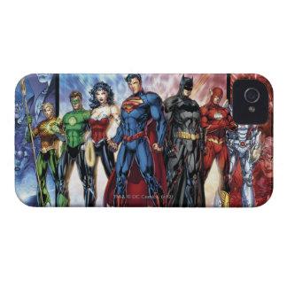 Coque iPhone 4 Ligne de ligue de justice 52 de la ligue de
