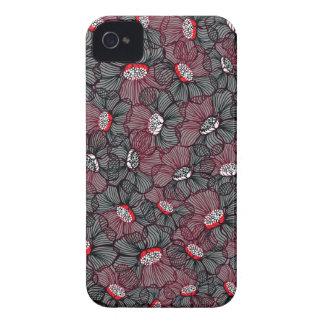 Coque iPhone 4 ligne fleur