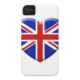 Coque iPhone 4 love drapeau Angleterre