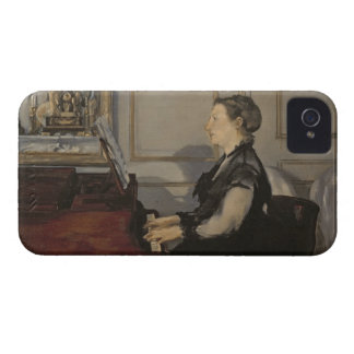 Coque iPhone 4 Madame Manet au piano, 1868 de Manet |