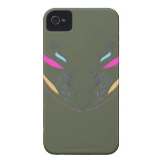 Coque iPhone 4 Mandala de conception sur le vert