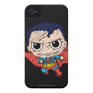 Coque iPhone 4 Mini croquis de Superman