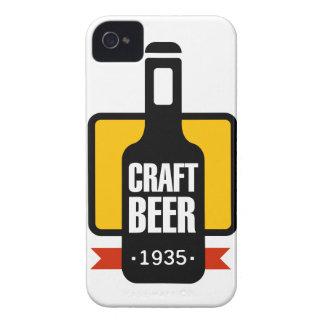 Coque iPhone 4 Modèle de conception de logo de bière de métier
