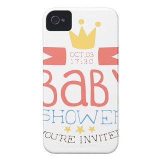 Coque iPhone 4 Modèle de conception d'invitation de baby shower