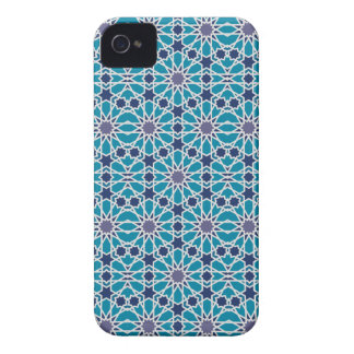 Coque iPhone 4 Motif abstrait dans bleu et gris
