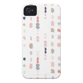 Coque iPhone 4 Motif abstrait de formes dans des couleurs en