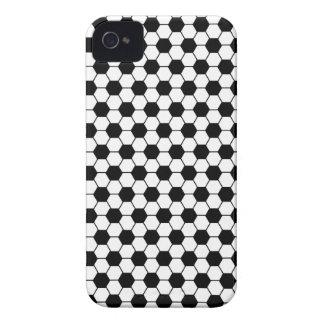 Coque iPhone 4 Motif de football en noir et blanc