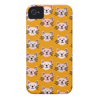 Coque iPhone 4 Motif mignon de chat dans la moutarde jaune