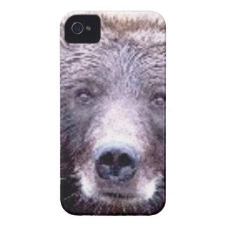 Coque iPhone 4 museau principal noir d'ours