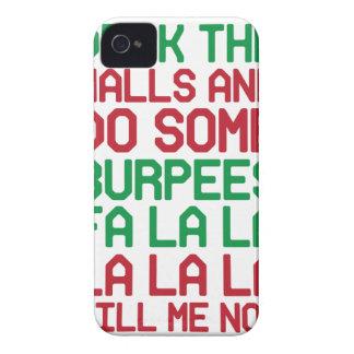 Coque iPhone 4 Noël Burpees