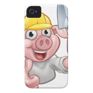Coque iPhone 4 Personnage de dessin animé de constructeur de porc