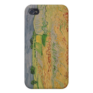 Coque iPhone 4 Plaine de Vincent van Gogh | chez Auvers, 1890
