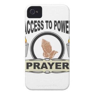 Coque iPhone 4 prière l'accès à la puissance