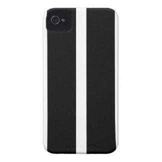 Coque iPhone 4 Rayure noire avec le blanc