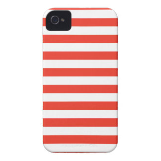 Coque iPhone 4 Rayures rouges horizontales