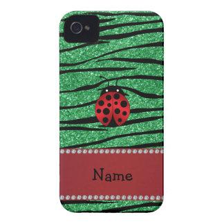Coque iPhone 4 Rayures rouges nommées personnalisées de zèbre de