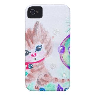 Coque iPhone 4 Rétro Noël Kitty