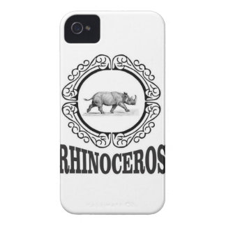 Coque iPhone 4 Rhinocéros de cercle