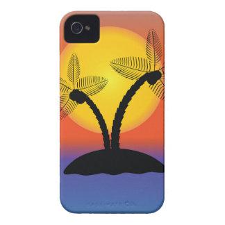 Coque iPhone 4 Silhouette de palmier