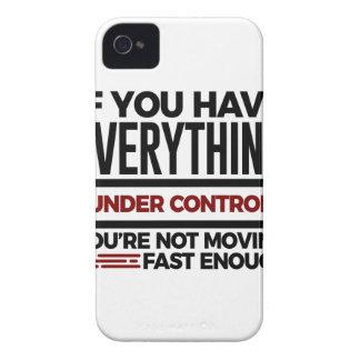 Coque iPhone 4 Sous le contrôle ralentissez aussi plus de vitesse
