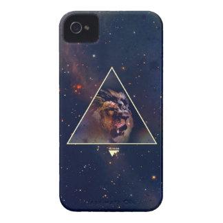 Coque iPhone 4 Tête de lion de triangle de galaxie - Trendium