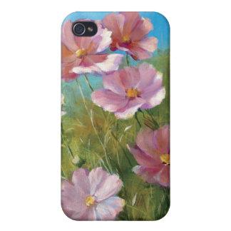 Coque iPhone 4 Un jardin floral rose