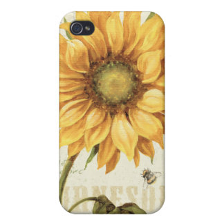 Coque iPhone 4 Un tournesol jaune