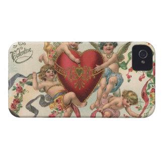 Coque iPhone 4 Valentines victoriens vintages, coeur d'anges