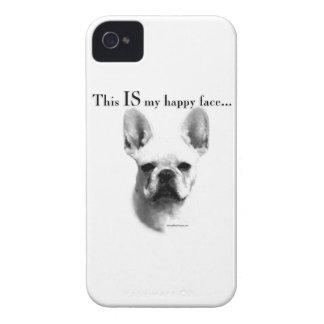 Coque iPhone 4 Visage heureux de Frenchie
