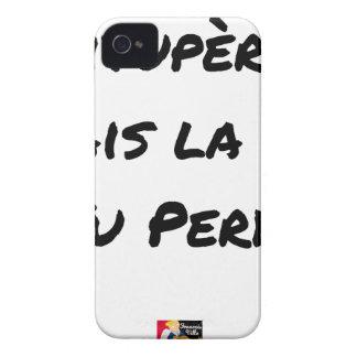 Coque iPhone 4 VITUPÈRE, MAIS LA VIE TU PERDS - Jeux de mots