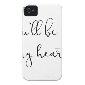 Coque iPhone 4 Vous serez à mon coeur