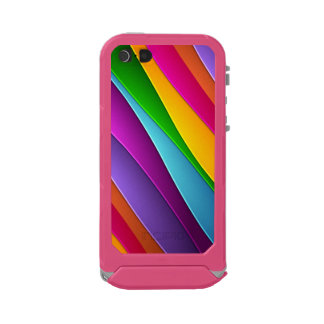 coque iPhone 5/5S rose arc-en-ciel