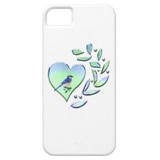 Coque iPhone 5 Amant de geai bleu