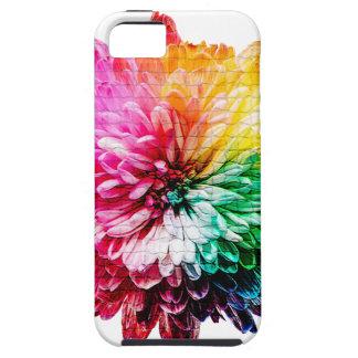 Coque iPhone 5 Belle fleur multicolore de mosaïque