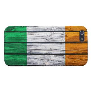 Coque iPhone 5 Bois rustique de drapeau irlandais