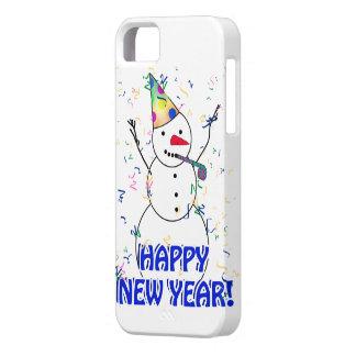 Coque iPhone 5 Bonne année du bonhomme de neige de célébration