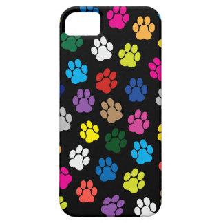 Coque iPhone 5 Caisse colorée de l'iPhone 5 de pattes de chien