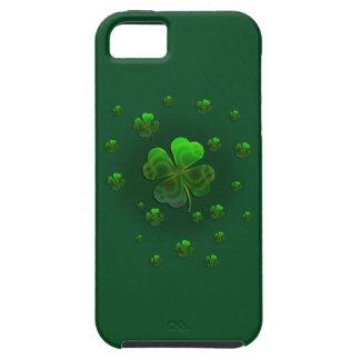 Coque iPhone 5 Caisse verte mignonne de l'iPhone 5 de shamrocks