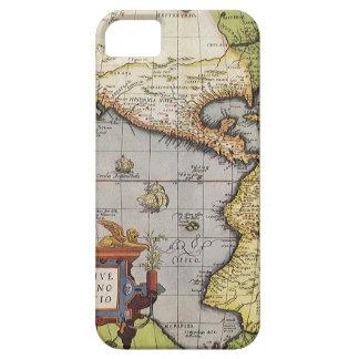 Coque iPhone 5 Carte antique du monde des Amériques, 1570