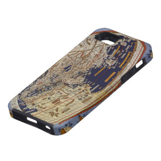 Coque iPhone 5 Carte Ptolemaic antique du monde, Johannes