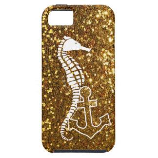 Coque iPhone 5 Cas étincelant de l'iPhone 5s d'or nautique
