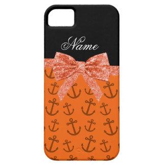 Coque iPhone 5 Case-Mate Arc orange nommé personnalisé de parties