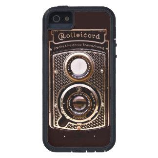 Coque iPhone 5 Case-Mate Art déco vintage de rolleicord d'appareil-photo