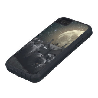 Coque iPhone 5 Case-Mate Caisse dure de Se d'iPhone de Xtreme de corneilles