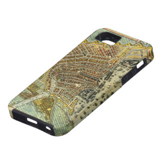 Coque iPhone 5 Case-Mate Carte antique d'Amsterdam, Hollande aka Pays-Bas