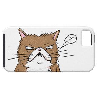 Coque iPhone 5 Case-Mate Dessin grincheux drôle de chat de Meh