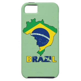 Coque iPhone 5 Case-Mate Drapeau dans la carte du Brésil