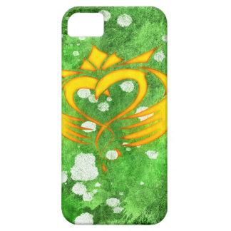 Coque iPhone 5 Case-Mate Éclaboussure celtique irlandaise de Claddagh