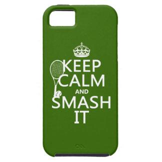 Coque iPhone 5 Case-Mate Gardez le calme et le fracas il (tennis) (toute
