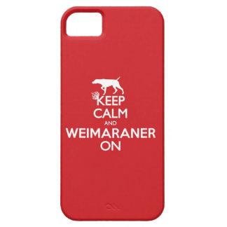 COQUE iPhone 5 Case-Mate GARDEZ WEIMARANER CALME